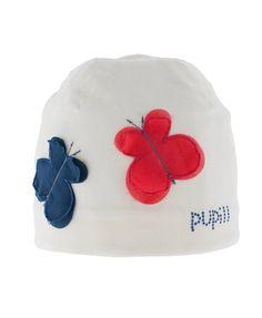 Pupill ★ Mütze Schmetterlinge creme
