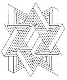 To print this free coloring page «coloring-op-art-jean-larcher-11», click on the printer icon at the right