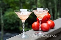 With my glut of home grown tomatoes - clear tomato martini