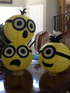 Gather your minions and make this fun, themed party lanterns. Shop yellow paper lanterns in varying sizes at http://www.partylights.com/Lanterns/Yellow.