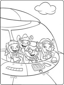 Little Einstein Coloring Page