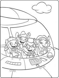 Little Einstein Coloring Page