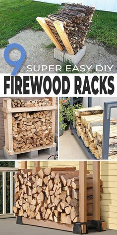 We have some great DIY projects for you to keep your firewood organized, neat, dry and actually nice looking! Some of these are super easy too! #firewoodracks #diyfirewoodracks #outdoorfirewoodracks #diyoutdoorfirewoodracks #firewoodrackideas #firewoodrackprojects #diyfirewoodrackideas #diyfirewoodracksprojects