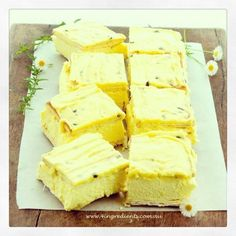 3 ingredient Vanilla Slice:  * 200g packet Lattice biscuits * 600ml cream * 100g packet Vanilla Pudding mix  Line a 20 x 30cm baking dish with paper. Layer 8 Lattice biscuits flat side up. Mix cream and pudding until thick, then spoon onto the biscuit base.   Top with another layer of biscuits, shiny side up. Refrigerate for at least 30 minutes before slicing and serving.   Passionfruit Icing (optional)  * 1 cup icing sugar * 1 tablespoon passionfruit pulp * 1 teaspoon (15g) butter, softened