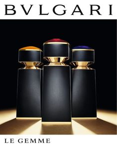 "BVLGARI Le Gemme Masculine Collection | Inspired by the tradition of Haute Joaillerie and its values of excellence, BVLGARI enters the exclusive sphere of Haute Parfumerie with ""Le Gemme"" collection."