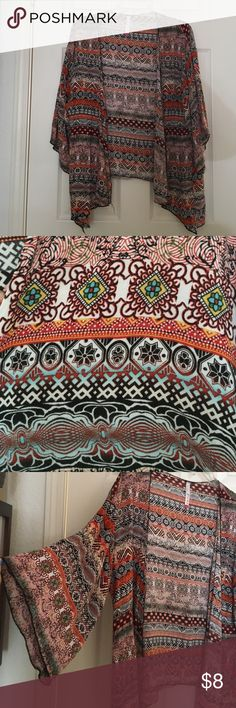 KIMONO Multicolored/patterned kimono, mid length sleeve, loose fitting simply RUBY  Tops Blouses