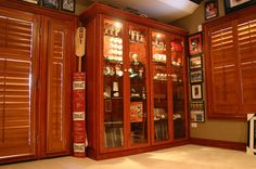 One of our favorite sports memorabilia showcases.