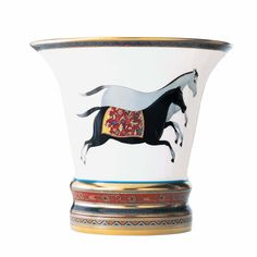 Cheval d'Orient Porcelain Vase by Hermès - CIJ International