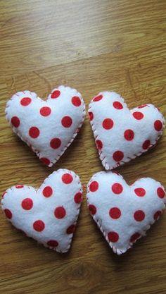 Polka Dot Heart Bowl fillers/ ornaments by tonyasepulveda on Etsy, $4.00