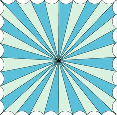 Click for a How-To paint a circus tent on the ceiling.