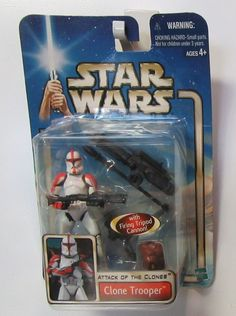 """Star Wars: Clone Trooper '02/#17 Attack of the Clones 3.75"""" Action Figure 2002 #Hasbro"""