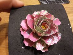 Awesome flower tutorial. The Creative Outlet: Stampin up flower punch tutorial