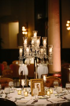 For the wedding reception, some tables have this and others have flowers?