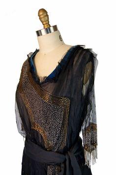 Vintage Edwardian silk & net gown.
