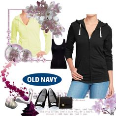 """old navy tee hoodie #8"" by kitty-wasch on Polyvore"