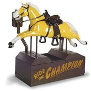 I Want It!    This is the classic 1950s kiddie ride that transports young cowpokes on an imaginary horseback journey to the Old West. Commonly encountered in front of grocery stores, the original ride was...