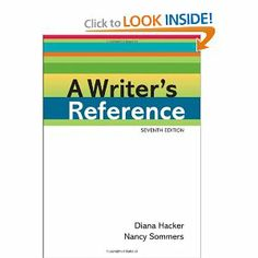 A Writer's Reference: Diana Hacker, Nancy Sommers: 9780312601430: Amazon.com: Books