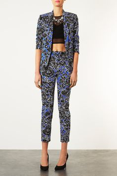 Dandy Structured Blazer and Highwaisted Trousers - Suits and Co-ords - Clothing - Topshop
