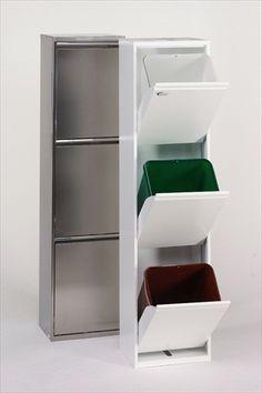 Afval combi 281_MEI 03 Recycling Bins, Storage Bins, French Door Refrigerator, Declutter, Bathroom Medicine Cabinet, Bookcase, Kitchen Appliances, Kitchens, Sweet Home