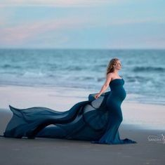 Updates from MiiEstilo on Etsy Maternity Photography Poses, Maternity Portraits, Beach Maternity Pictures, Beautiful Pregnancy, Shooting Photo, Foto Pose, Pregnancy Photos, Maternity Dresses, Photoshoot