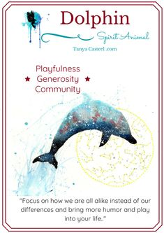 Dolphin spirit animal symbolism, meaning, dreams and watercolor paintings by Tanya Casteel Animal Meanings, Animal Symbolism, Symbols And Meanings, Spirit Animal Totem, Animal Spirit Guides, Whats Your Spirit Animal, Spiritual Animal, Animal Medicine, Power Animal
