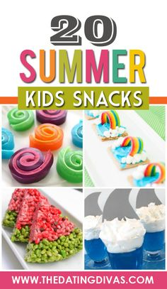 FUN Kid Snack Ideas. These are perfect for the summer when you need boredom busters.