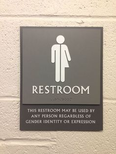 """This restroom may be used by any person regardless of gender identity or expression""    [click on this image to find a video and analysis which explores the policing of gender identity and expression]"