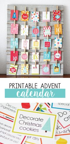 At our house we love a good Advent Calendar.  This countdown calendar for Christmas focuses on bringing the family together and spending time with each other.  I am hoping this printable advent calendar helps you enjoy each other and slow down this holiday season and spend time together. #advent #printable #christmas