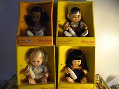 4- 1976 Shindana Dolls The Little Friends Collection