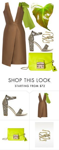"""Brown + Green"" by cherieaustin ❤ liked on Polyvore featuring PatBo, Furla, Bernard Delettrez, bernarddelettrez, patbo and yoins"