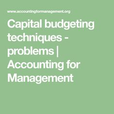 best capital budgeting technique