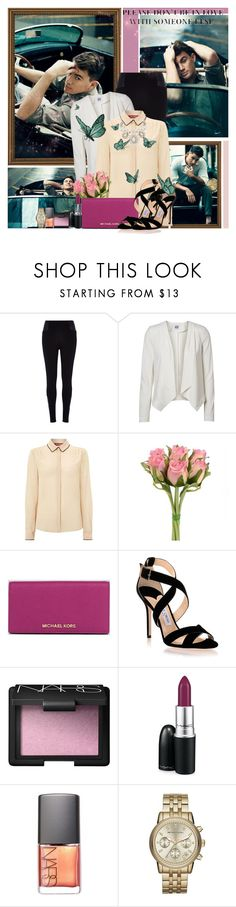 """Please don't be in love with someone else"" by avenged7x ❤ liked on Polyvore featuring River Island, Vero Moda, MaxMara, MICHAEL Michael Kors, Jimmy Choo, NARS Cosmetics, MAC Cosmetics and Kate Spade"