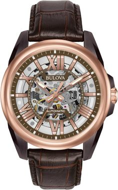 @bulova  Automatic Mens #add-content #bezel-fixed #bracelet-strap-leather #brand-bulova #case-depth-12mm #case-material-rose-gold-pvd #case-width-43mm #delivery-timescale-1-2-weeks #dial-colour-grey #gender-mens #luxury #movement-automatic #new-product-yes #official-stockist-for-bulova-watches #packaging-bulova-watch-packaging #style-dress #subcat-automatic #supplier-model-no-98a165 #warranty-bulova-official-3-year-guarantee #water-resistant-100m