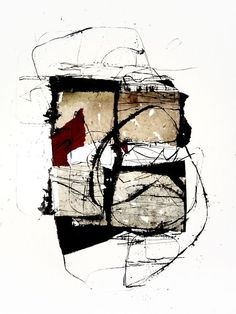 kitty sabatier - 176, Techniques mixtes, 50 x 65 cm - 2012 #Mixed_media #mark_making: