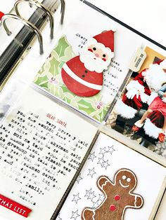 Rainbow Scrapbooks: December Daily | Day 3 Santa!