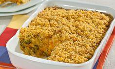 Receita: Escondidinho de legumes com farofa crocante