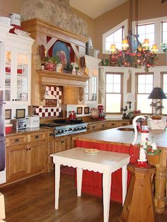 2008 March | Sugar Pie Farmhouse whats not to love about this huge beautiful kitchen