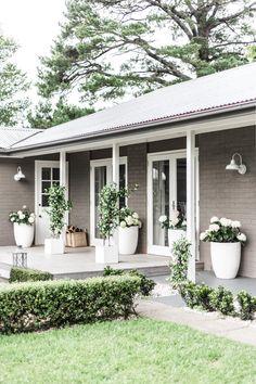 Cottonwood – exterior barn lights In order to have a wonderful Modern Garden Decoration, it is beneficial to be available … Exterior Paint Colors For House, Paint Colors For Home, Exterior Colors, House Colors, Exterior Design, Paint Colours, Exterior Paint Ideas, Concrete Patios, Concrete Front Porch