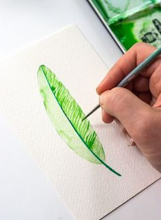 DIY: Three Ways To Paint A Feather #watercolorarts