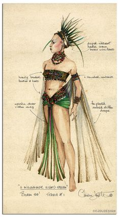 Titania costume design for A Midsummer Night's Dream