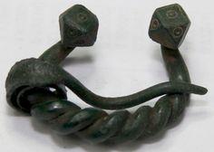 ANCIENT VIKING  BRONZE   Classic OMEGA  FIBULA BROOCH Men's Jewelry