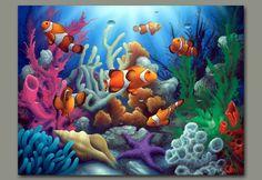 pinturas de peces en acrilico - Buscar con Google