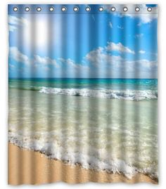 "BravoVision Custom Summer Beach Blue Sea Palm Tree Sunshine Mildew-Resistant Antibacterial Waterproof Shower Curtain 60"" x 72"" Shower Curtain http://www.amazon.com/dp/B00N5HBKZO/ref=cm_sw_r_pi_dp_HuIxub0RTAHH8"