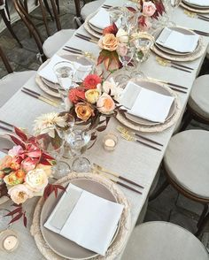 La Tavola Fine Linen Rental: Beckett Sand with Dupionique Iridescence White Napkins | Photo: Katie Colosi from Laurie Arons Special Events, Event Planning: Laurie Arons Special Events, Tabletop Rentals: Casa de Perrin, Floral Design: Kathleen Deery Design,