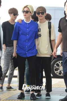 Suho and Chen   140727 Incheon Airport departing for Changsha