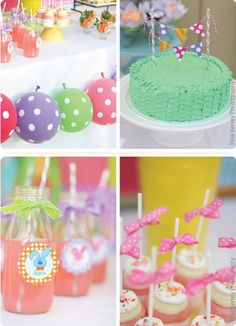 easter themed party..very cute..love the cake!