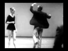 This is film of Igor Stravinsky and George Balanchine rehearsing Suzanne Farrell.  Stravinsky watches Farrell execute a few steps, Balanchine demonstrates steps and then the choreographer and the composer chat in Russian about the relationship of the music to the movement.  And Farrell is so young and so fresh as a dancer.