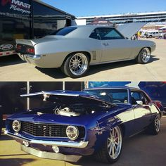 Two beautiful #1969 Camaros in the #MastMotorsports booth at #Goodguys Lone Star Nationals at Texas Motor Speedway! Silver - Detroit Speed Factory™ Blue - @gapracing #lsxnation #lseverything #lsnation #bestoftheday #photooftheday #carshow #camaro by mastmotorsports
