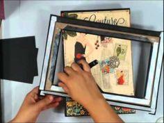 ▶ Scrapbook Mini Album: Vertical Paper Bag Album Part 6 - YouTube
