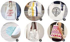 18 DIYs e imprimibles para customizar tote bags